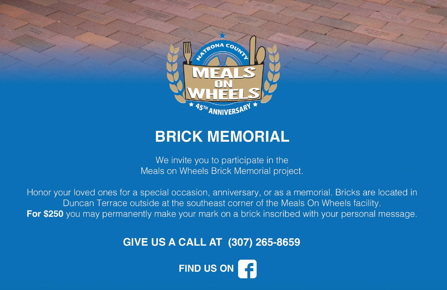 Brick Memorial - Meals on Wheels Project