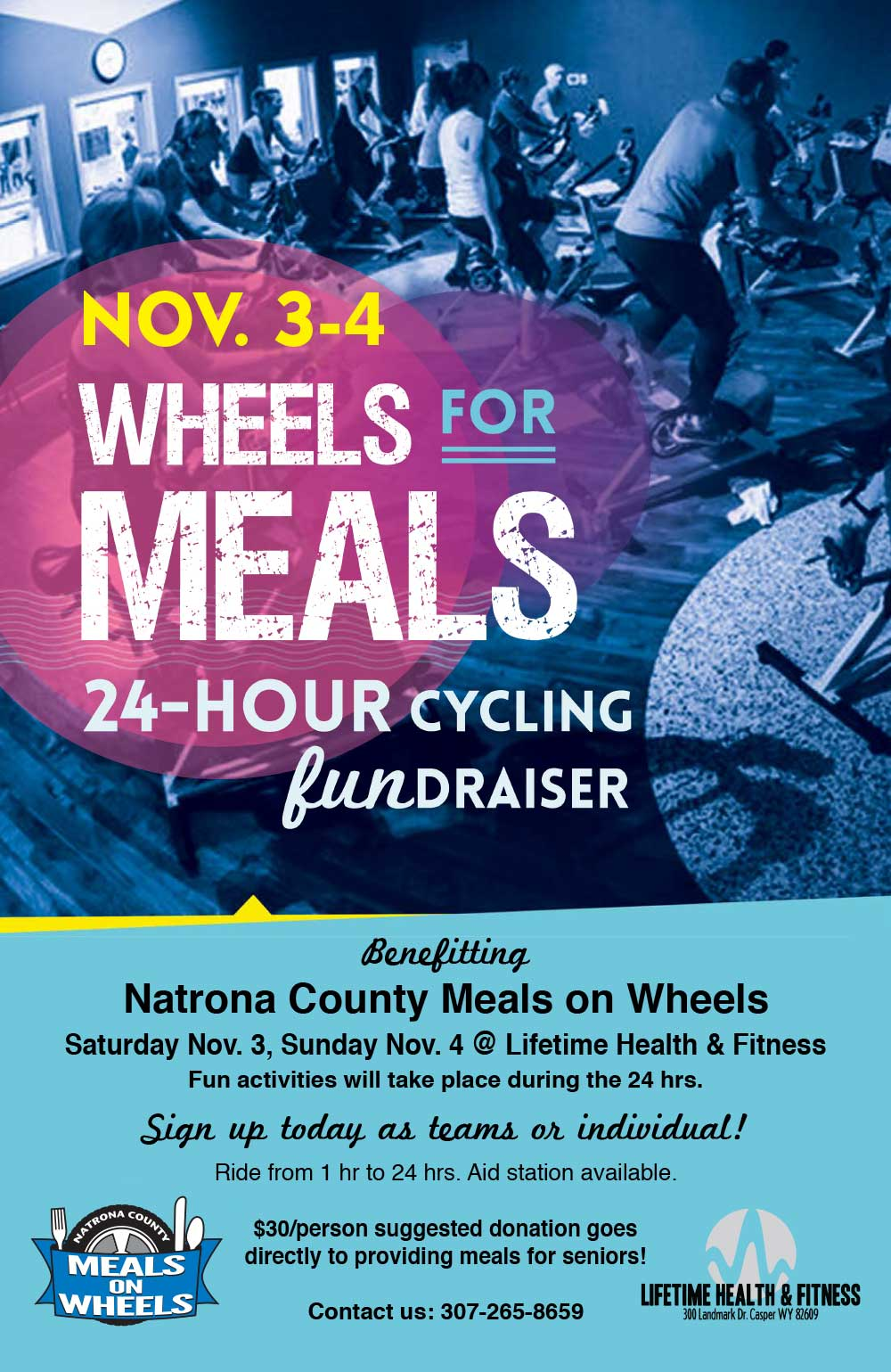 Wheels for Meals 24-Hour Cycling Fundraiser