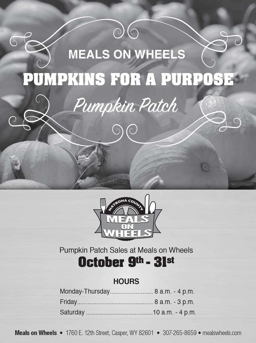 Pumpkin Patch Sales at Meals on Wheels